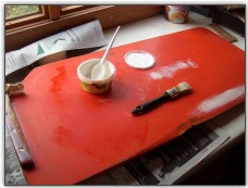 Shortening a Centreboard - Primer and paint