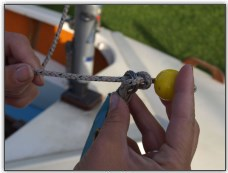 Photo 19, Fixing a rope stopper to a sail